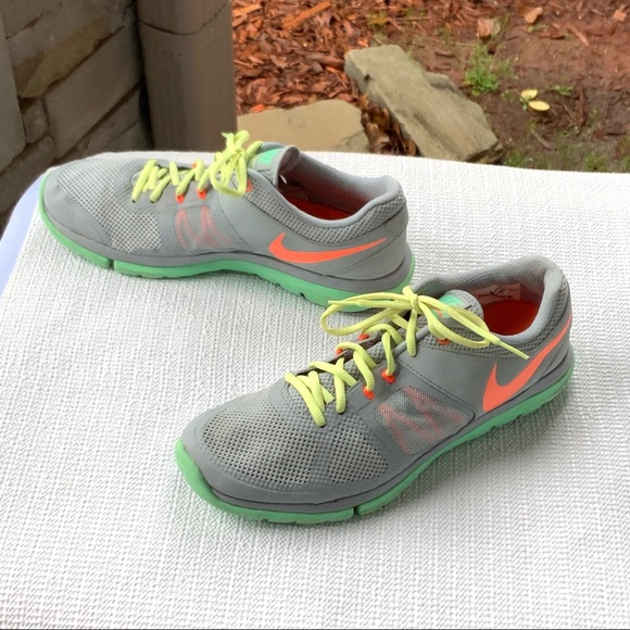 Leopardo Repegar Arrepentimiento  Nike Shoes | Nike Flex Fitsole Gray Melon Green Shoes Wm 1 | Poshmark
